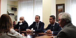 Francisco Vila, con Ramón Gómez Villares, Pablo Atencia Robledo y Nicolás Gómez-Villares Pérez-Muñoz